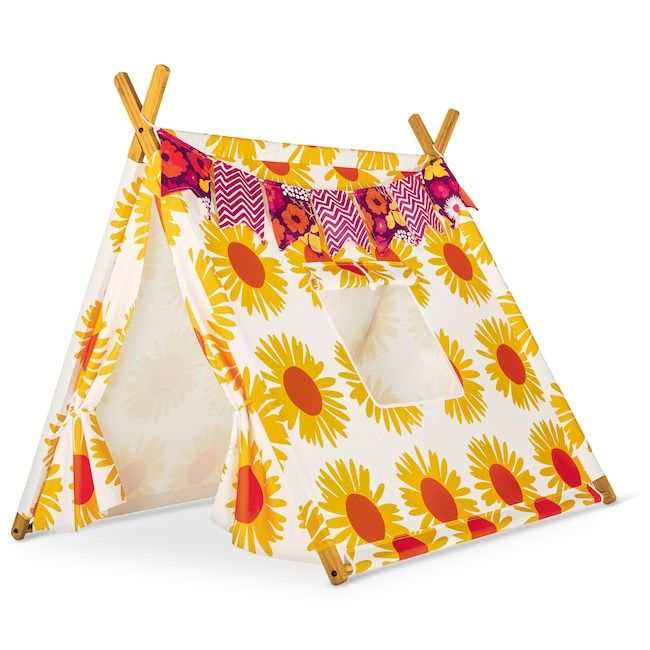 Sunflower-printed Marimekko for Target tent .  sc 1 st  Pinterest & Sunflower-printed Marimekko for Target tent ... | cross category ...