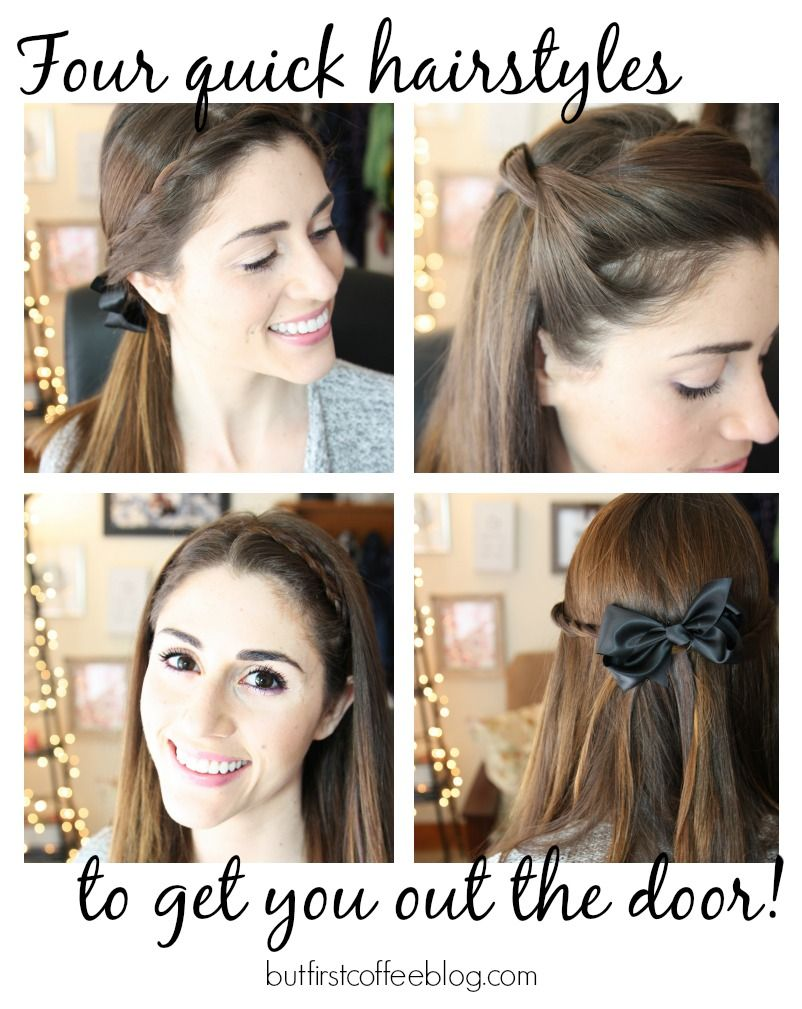4 quick hairstyles for when you're running late - ellie's