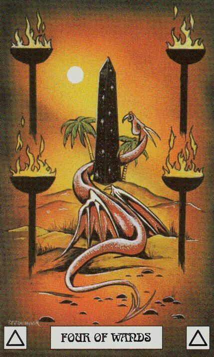 Four of Wands     DRAGON TAROT