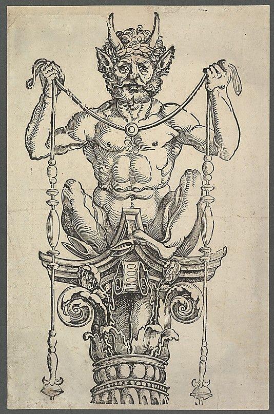 The Great Column (top block) Albrecht Dürer  (German, Nuremberg 1471–1528 Nuremberg)