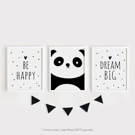 Printable Nursery Art Set of 3 Poster Baby room Wall art Kids room ...