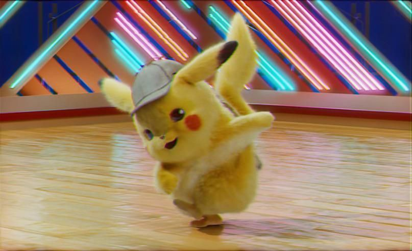 In the movie detective pikachu pikachu is sporting a new look with a detective hat nodding at the fact that he is indeed a detective.