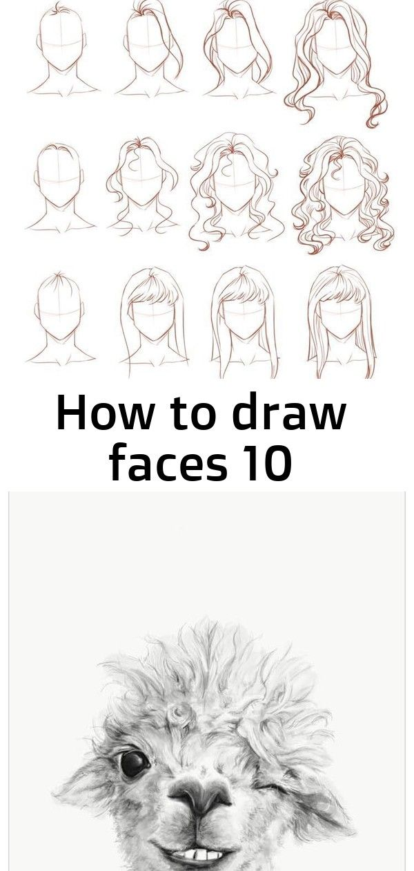 How to draw faces 10 How to draw faces- Hair. Llama Drawings by Nashville artist Kristin Llamas. This llama is named Maggie! Head over to Greenbox Art to find your favorite llama! Draw this video by following steps and have more fun.