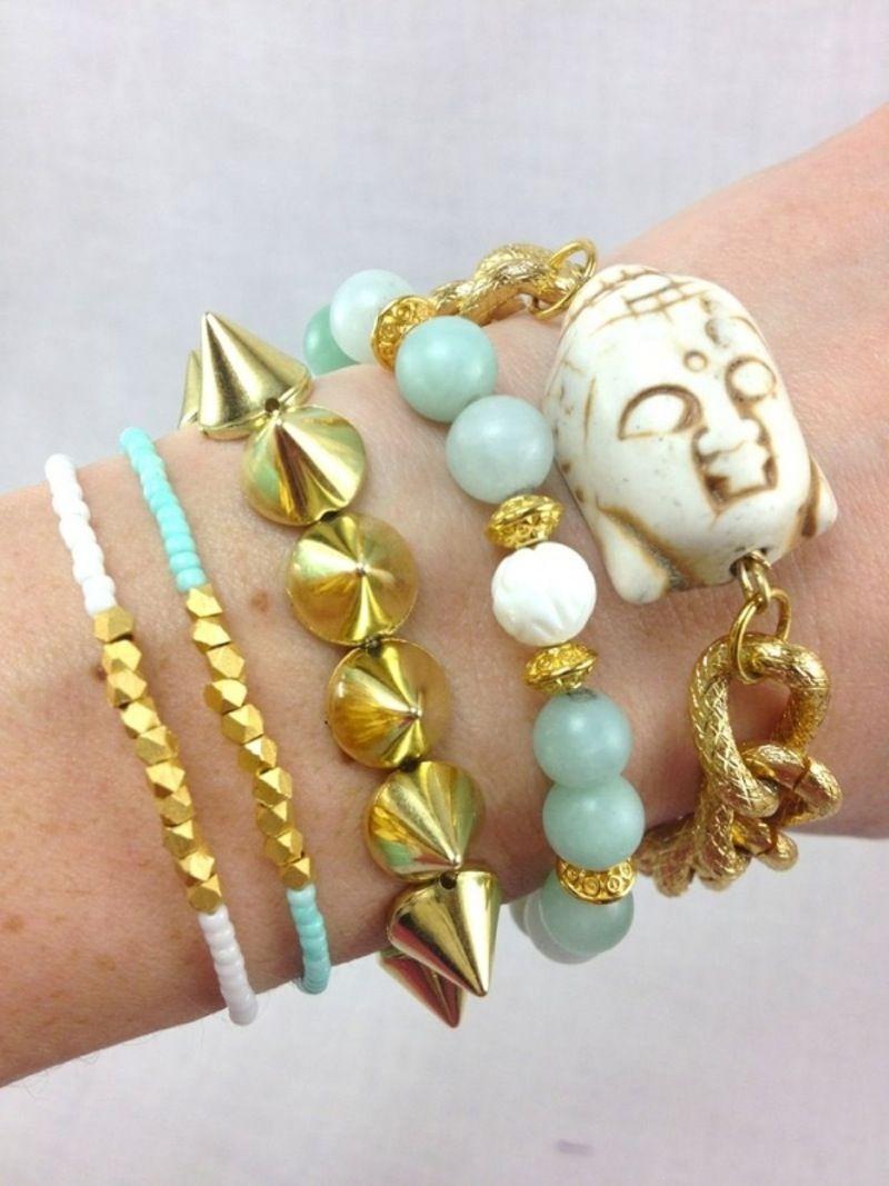 29. #menthe et or Arm Candy - 41 #idées de bonbons bras #mousseux... → #Jewelry