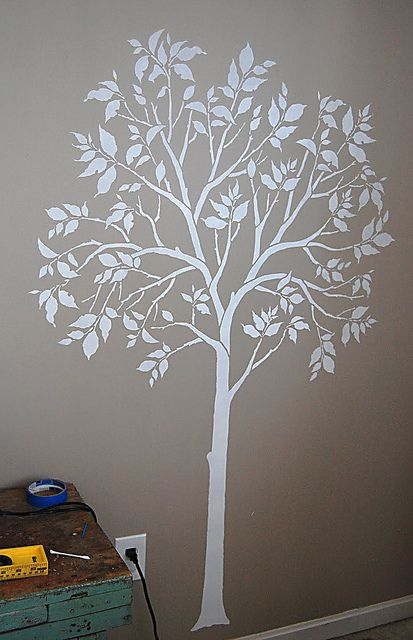 Painted Tree Stencil Even Better Than Decal Cutting Edge Stencils By Cuttingedgestencils Via Flickr