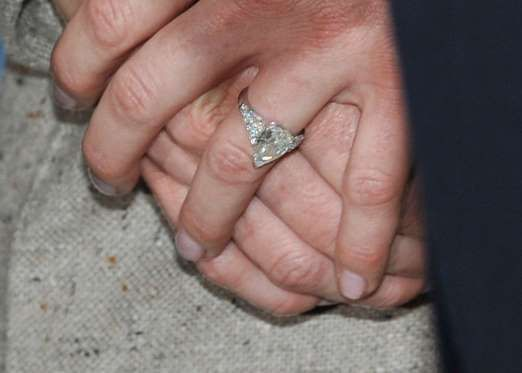 An engagement ring worn by Charlene Wittstock, then-fiancee to His Serene Highness, Prince Albert II... - Gareth Cattermole/Getty Images