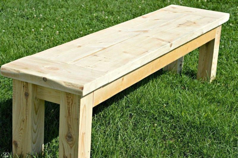 Super Easy Rustic Bench How To Outdoor Furniture