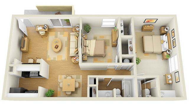 The Degas 2x2 3d Floor Plan For Websites Downloading Architectural Floor Plans Small House Design House Floor Plans