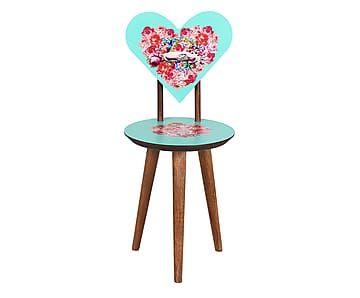 Cadeira Coração Kitsch Romance - Turquesa