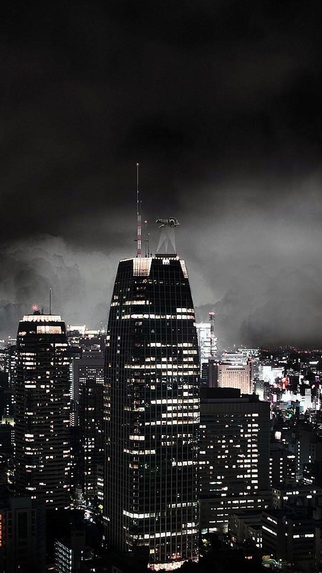 dark gothic night city iphone wallpaper City iphone