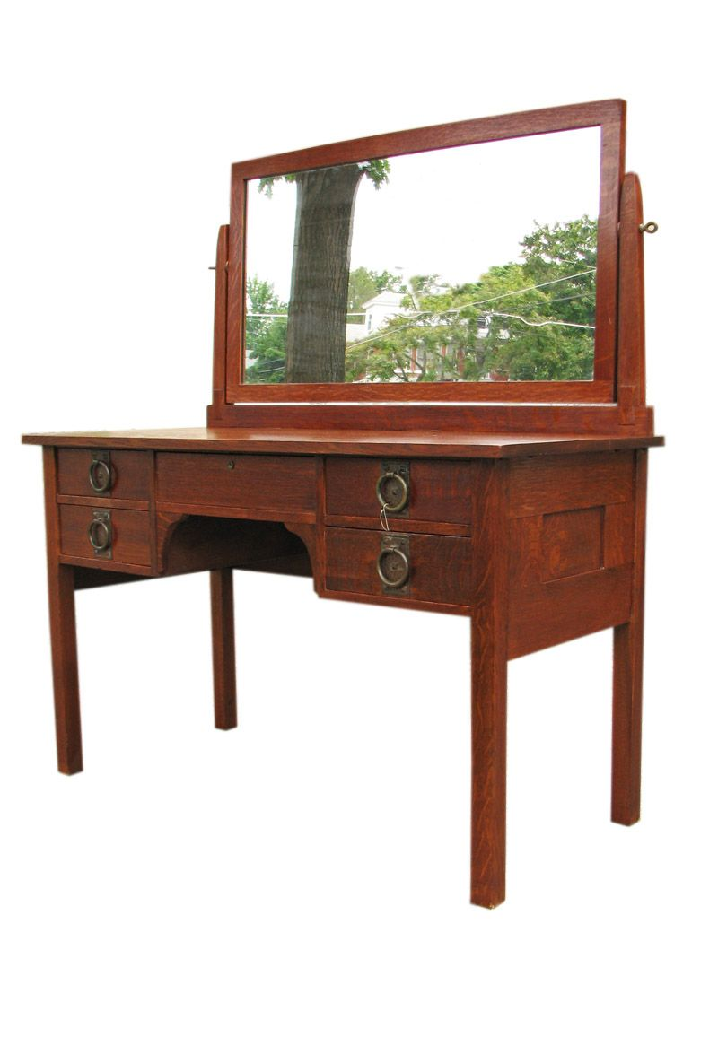 Gustav Stickley Vanity Craftsman Furniture Roycroft Bungalow Arts