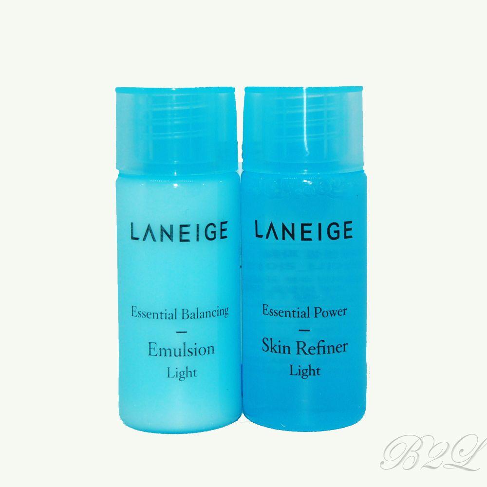 Laneige Basic Care Light Trial Kit Essential Skin Refiner Lip Eye Make Up Remover Waterproof Ex 25ml Emulsion 15ml