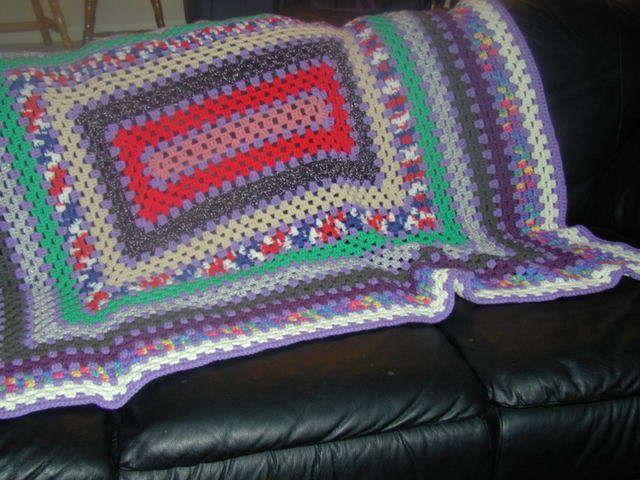 granny rectangle crochet blanket free pattern | Patrones Libres De ...
