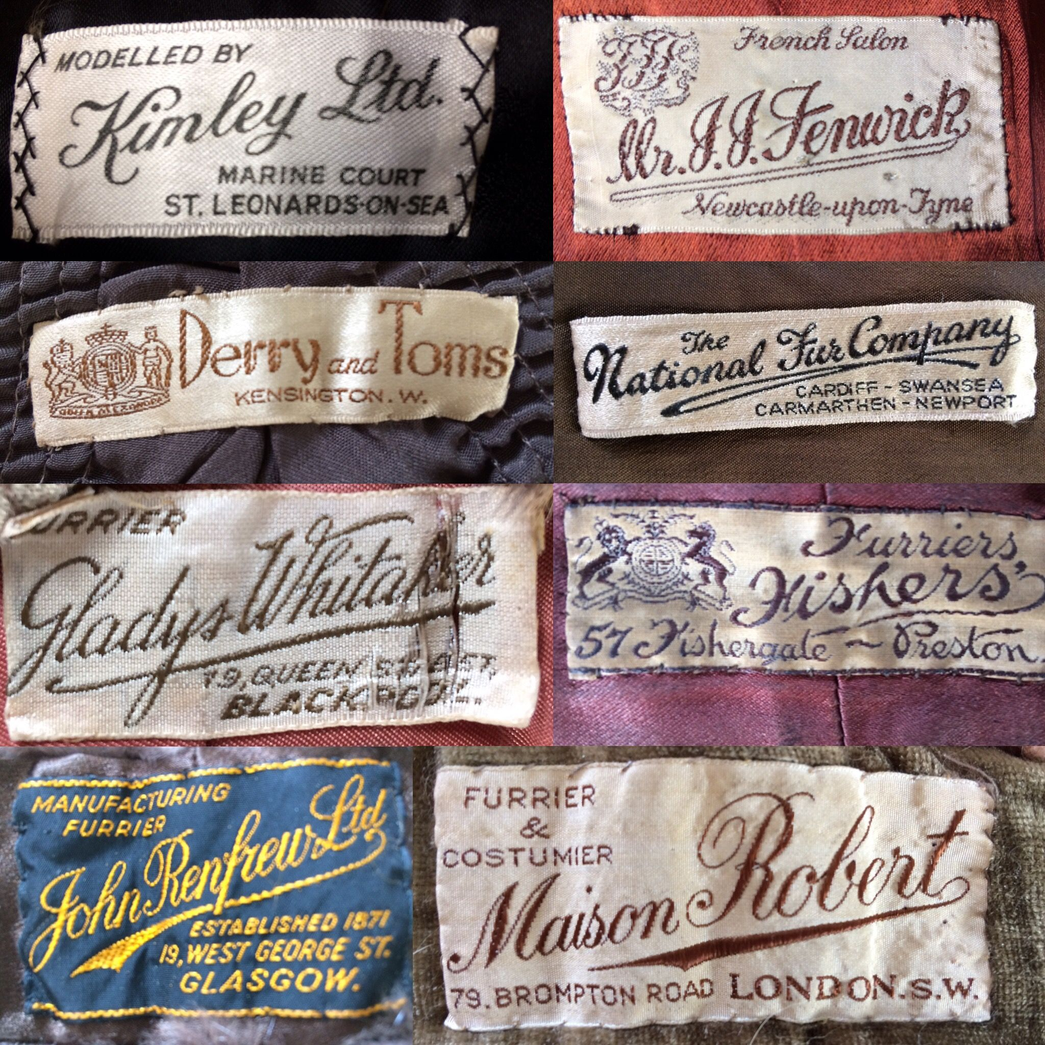 Victorian Edwardian 1920 S 1930 S 1940 S 1950 S Original Vintage Antique Clothing Labels Can Be Found Inside Pieces Fr Antique Clothing Vintage Outfits Vintage