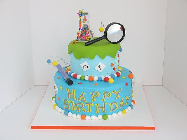 Awesome Science Cakes Ideas Science Party Cake Pictures With Images Personalised Birthday Cards Petedlily Jamesorg