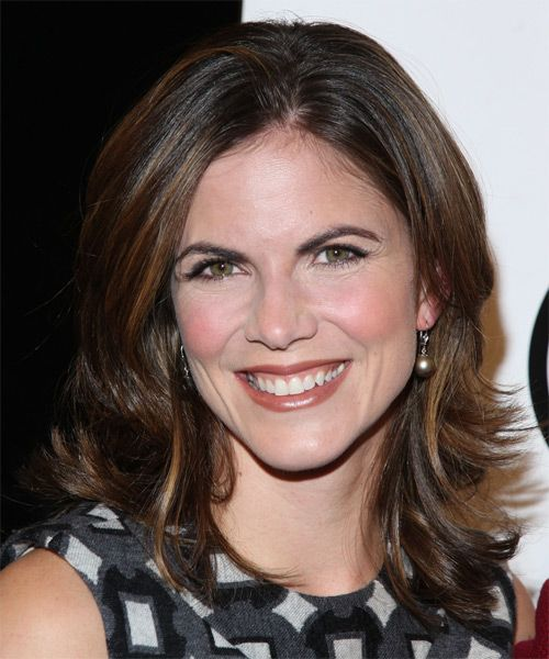 Medium Straight Hairstyles Fair Natalie Morales Medium Straight Formal Hairstyle  Medium Brunette