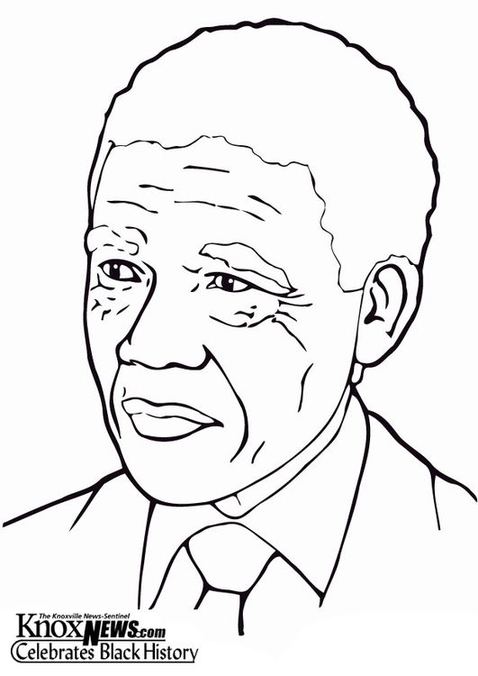 Coloring page Nelson Mandela img