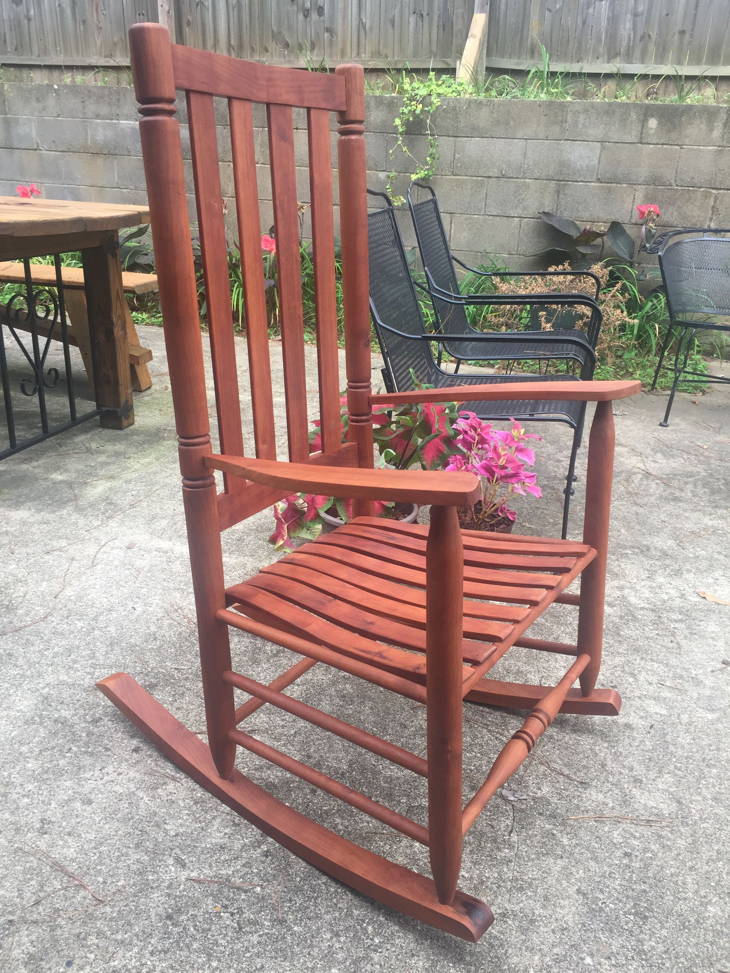 Handmade Solid Cherry wood rocker Rocking chair, Decor