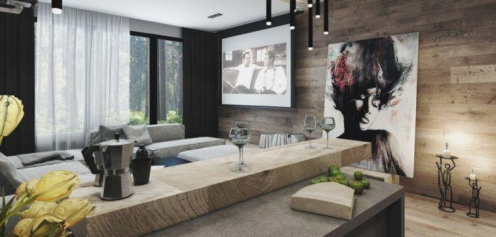 HOME DESIGNING: 4 Interiors Where Wood And Concrete Meet   Da Vinci  Lifestyle   Servicing Architects, Designers, U0026 Clients   Over 150  International Designer ...