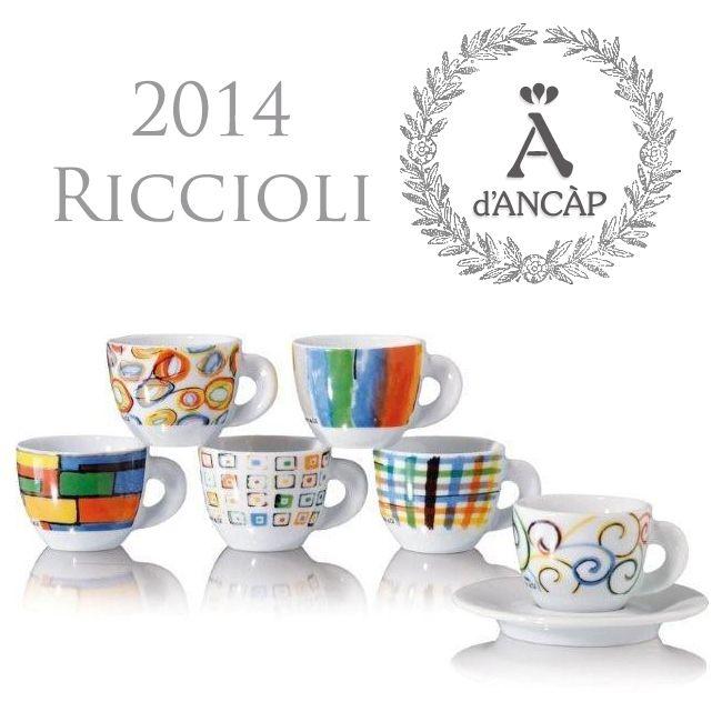 Cups Cappuccinokopjes Riccioliamp; CoSet Van 6Espresso Ancap hsrxQCtd