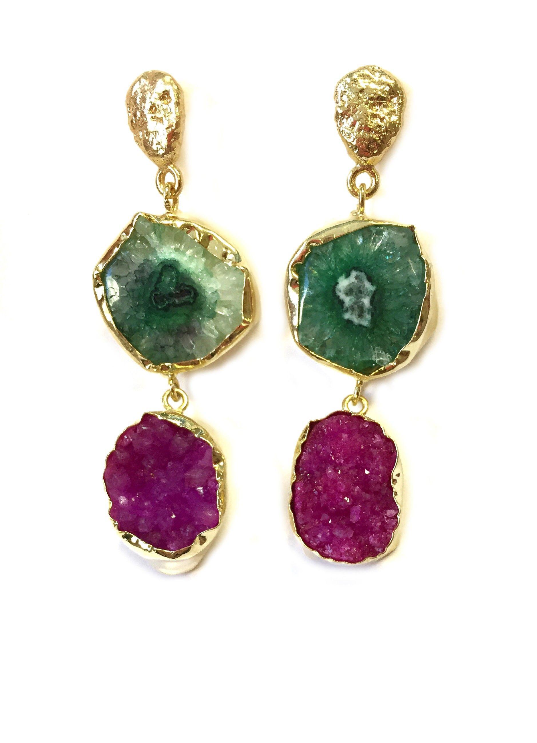de83764a0f55 Jewelcloning - Pendientes Lavani Verde y Fucsia