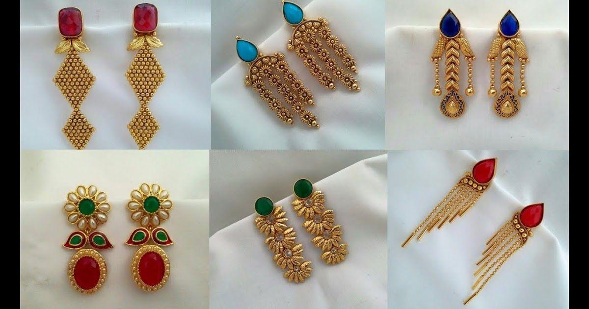 Daily Wear Simple Gold Earrings Design Ideas Earrings For Imitation Jewellery Buy Bridal Temple Antiqu In 2020 Simple Earrings Simple Earring Designs Earring Patterns