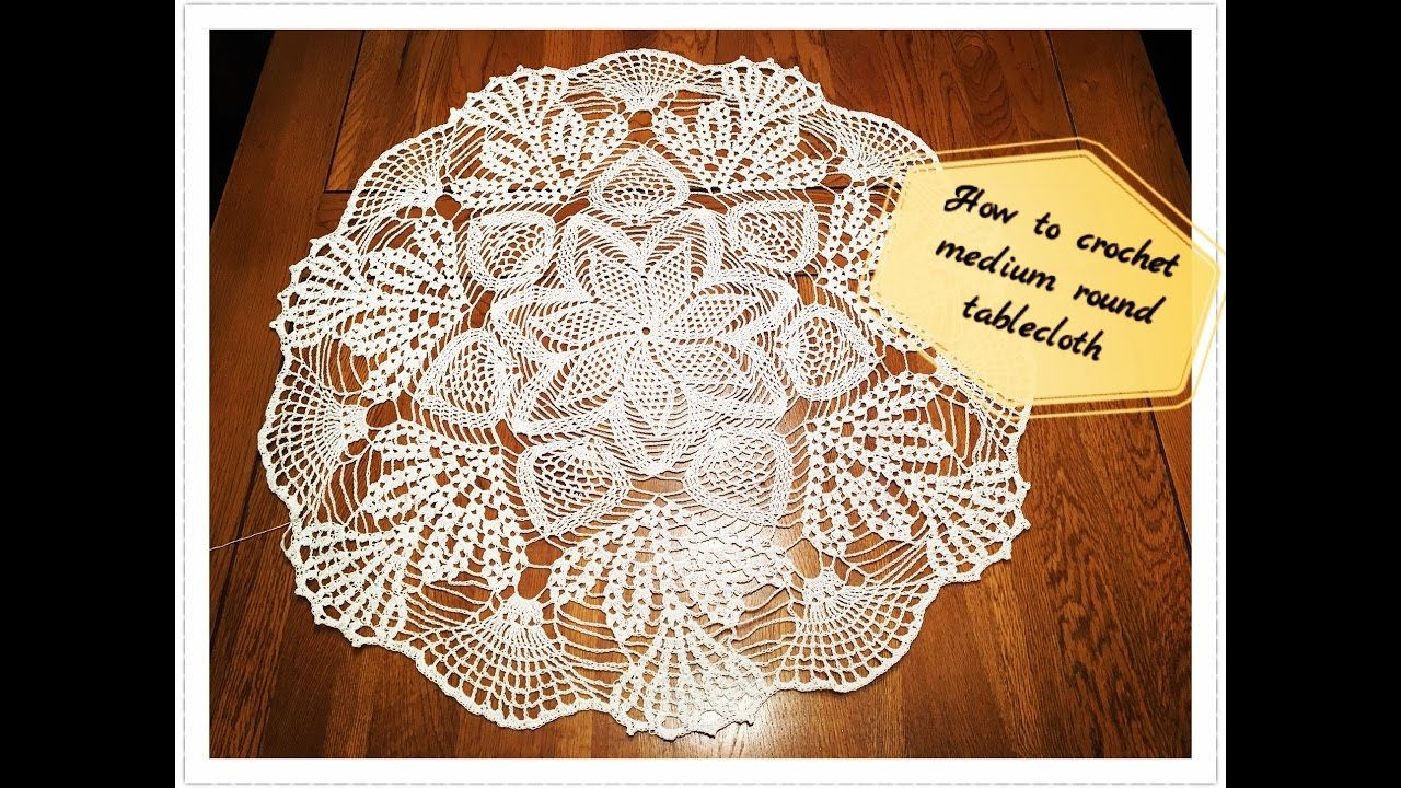 How to crochet medium round tablecloth Part 1 of 3 | carpetas a ...
