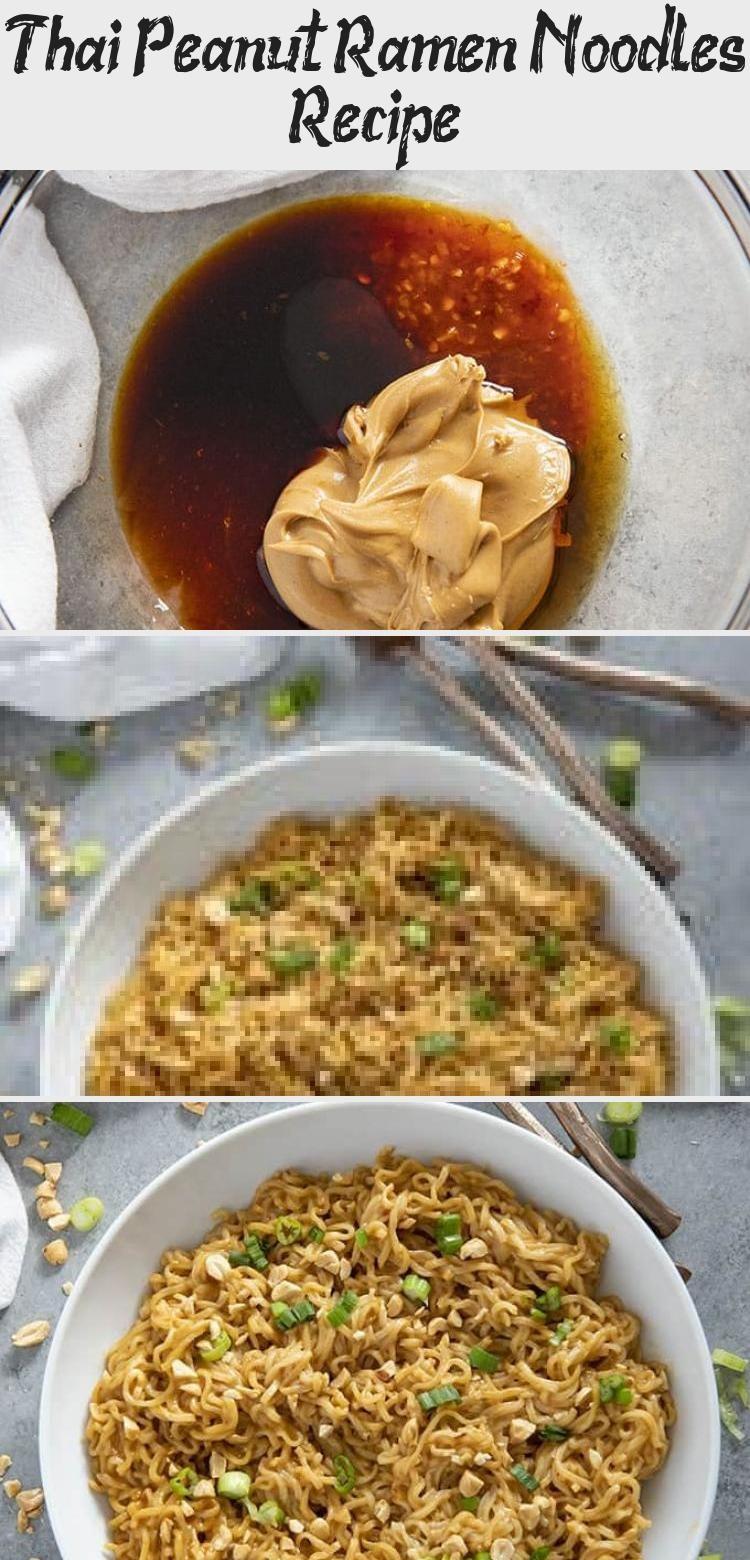 Thai Peanut Ramen Noodles gives instant ramen a makeover with a mouthwatering peanut sauce! This easy ramen noodles recipe is ready in ten minutes! #ramen #ramennoodles #ramennoodlerecipes #easydinnerrecipes #noodles #Breadrecipe #Bakingrecipe #Sandwichrecipe #recipeForKids #Mushroomrecipe