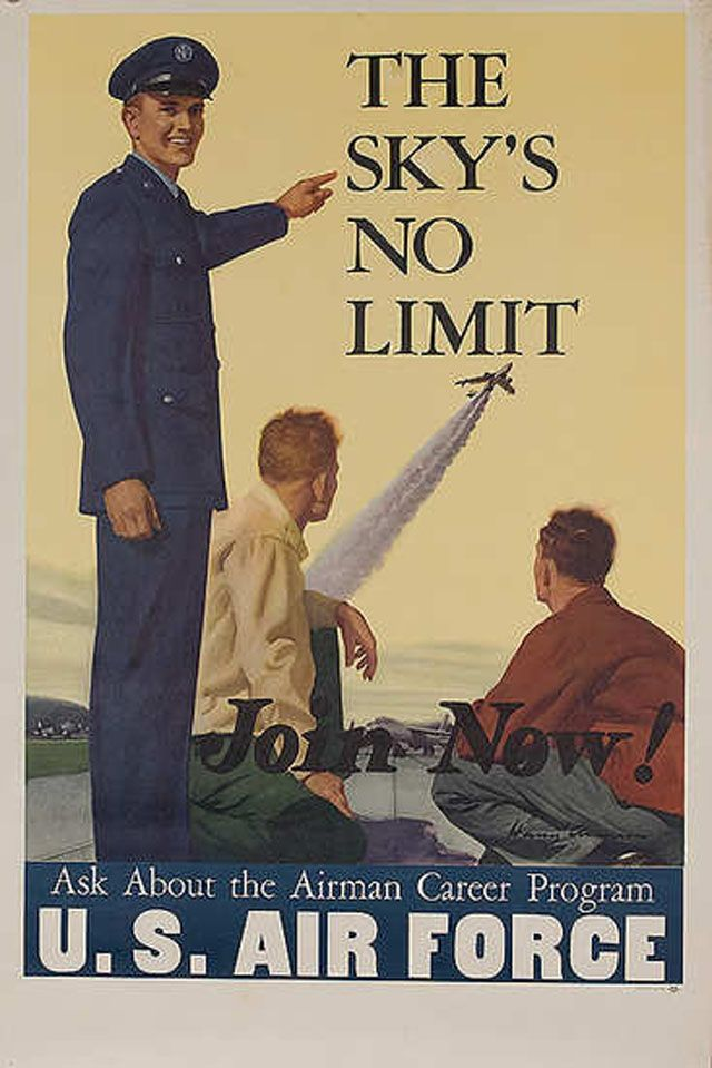 25 Awesome Vintage Air Force Recruitment Posters Military Poster