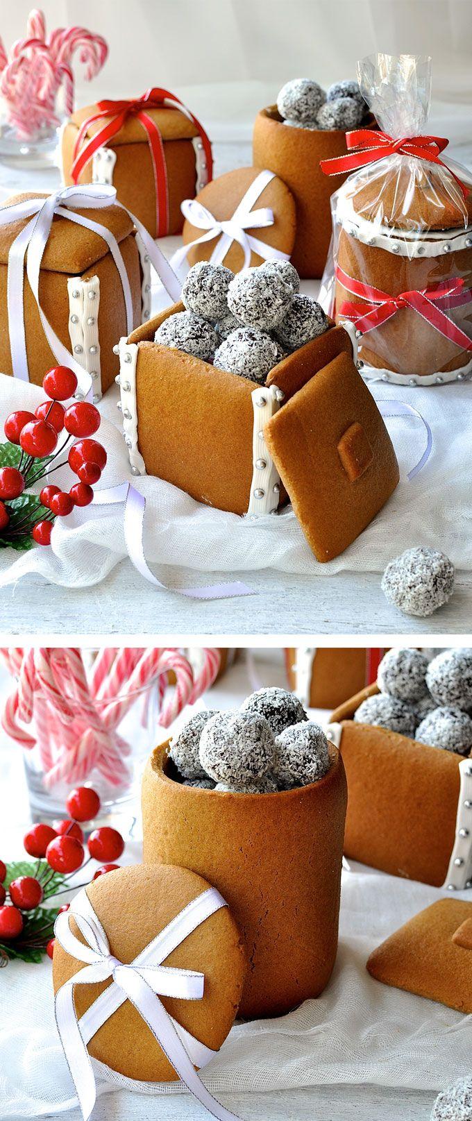 Gingerbread Box & Mason Jars | Recipe | Edible christmas gifts ...
