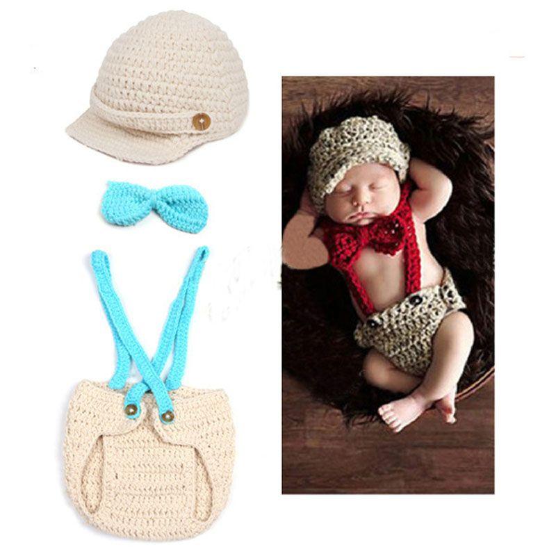 Neugeborenen Gentleman Outfit Baby stricken häkeln Foto Prop ...