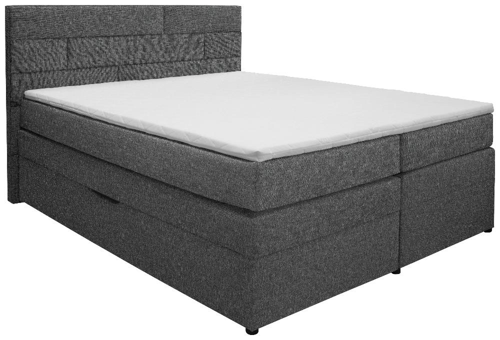Boxspringbett Ca 160 X 200 Mit Stauraum In Grau Komfort In Mehreren Schichten Boxspringbett Matratze Bettkasten