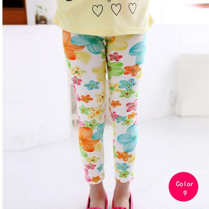 9058a61edc979 girl pants new arrive printing Flower girls leggings Toddler Classic  Leggings 2-14Ybaby girls leggings kids leggings