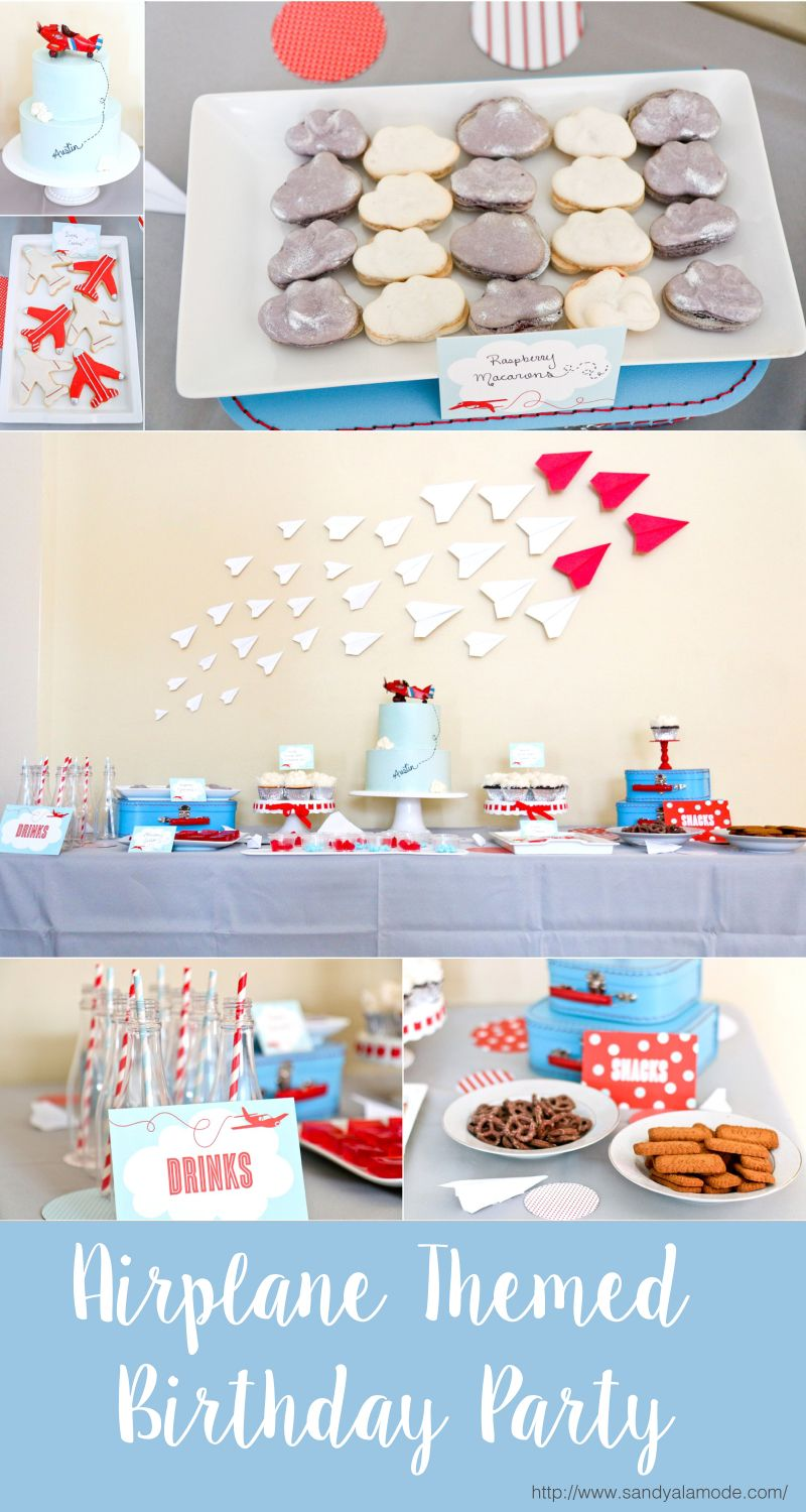 Austins 4th Airplane Birthday Party Themed birthday parties