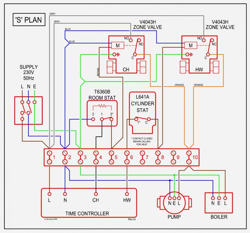 S Plan Heating Wiring Diagram Heating Systems Electrical Diagram Safety Switch
