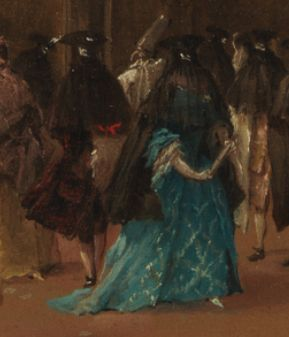 Detail from A Masked Ball in Bohemia Attributed to Andreas Altomonte  (Austrian, Warsaw or Vienna 1699–1780 Vienna) Date: ca. 1748 Collection of the Metropolitan Museum of Art