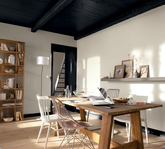 Idee Deco Osez Le Noir Sur Un Meuble Un Plafond Un Sol Idee Deco Peinture Castorama Et Decoration Maison