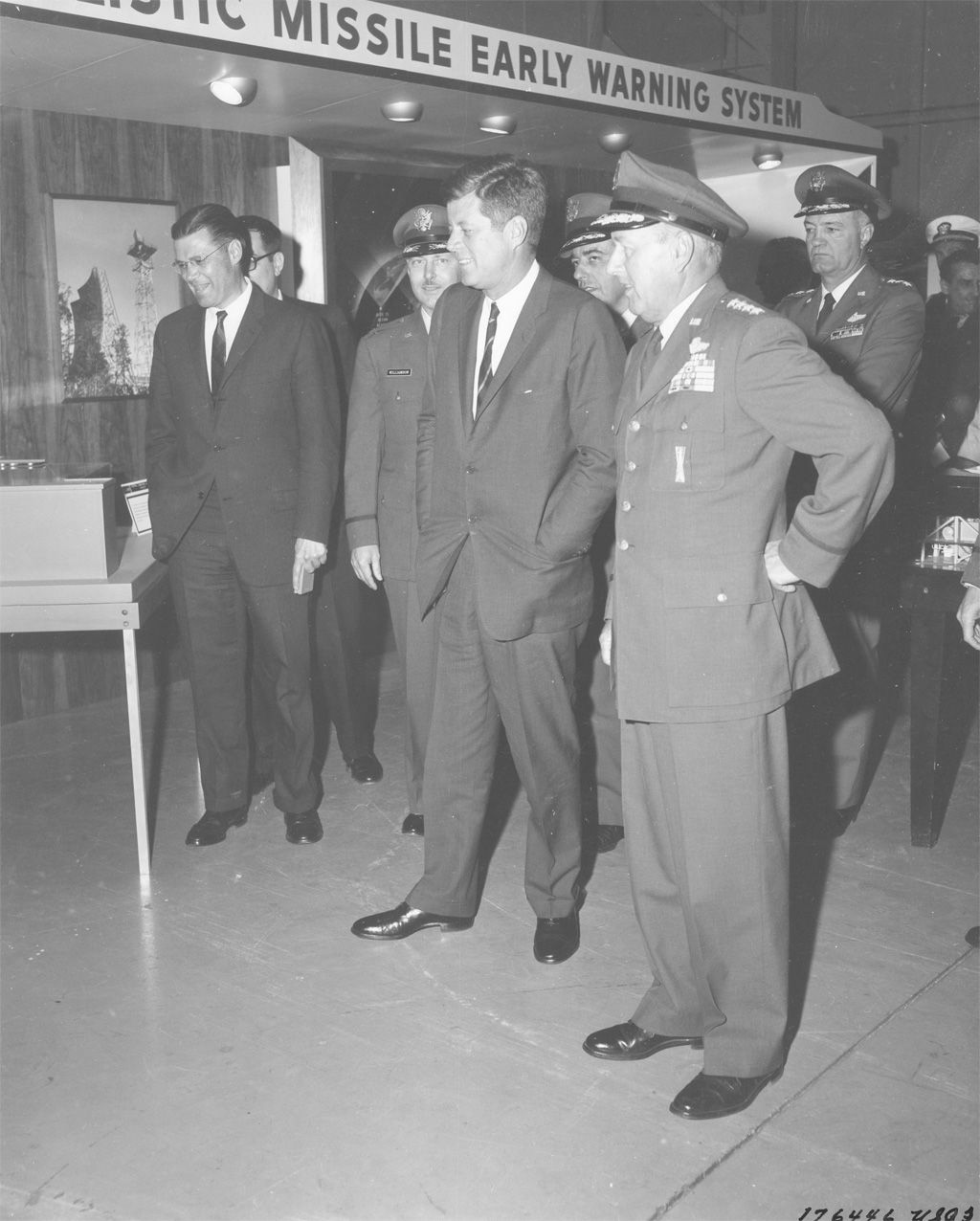 """President Kennedy visits Vandenberg AFB [Air Force Base"