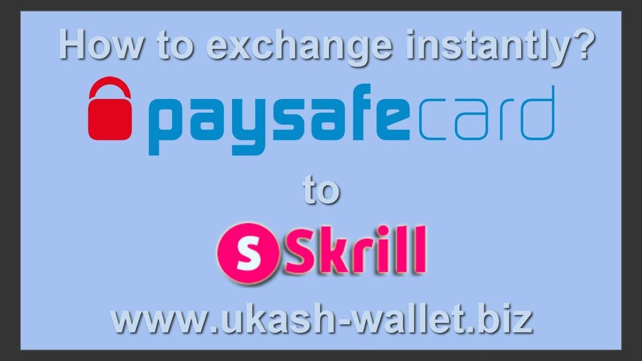 How To Exchange Paysafecard To Skrill Eur Usd Instantly Skrill Via P Perfect Money Instant Exchange