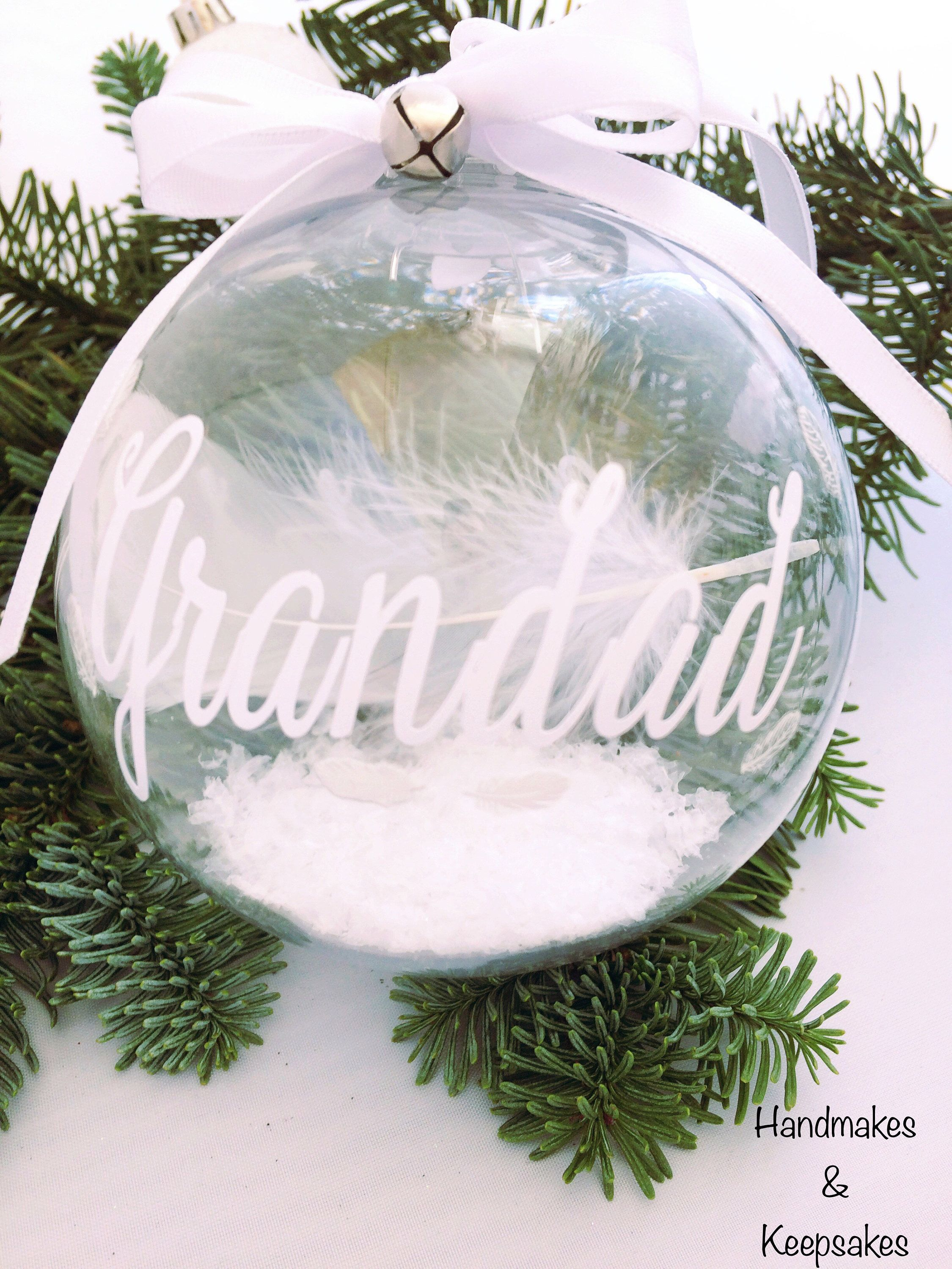 Remembrance Bauble - Christmas Decor - Memorial Gift - In Memory Of ...
