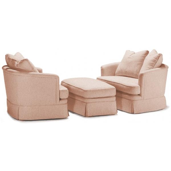 Brilliant 543 Swivel Double Chair And Ottoman Burton James Uwap Interior Chair Design Uwaporg