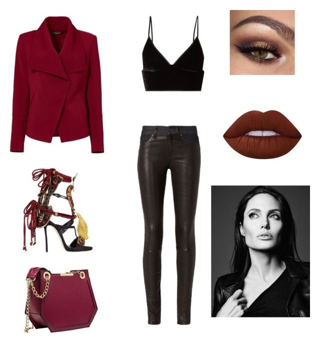 """Untitled #214"" by jxrew on Polyvore featuring rag & bone, T By Alexander Wang, Greylin, Dsquared2 and Lime Crime"