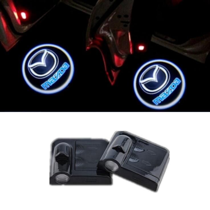 2pcs 5w Wireless Car Led Door Projector Logo Ghost Shadow Laser Lights For Mazda Car Led Road Trip Snacks Jump A Car Battery
