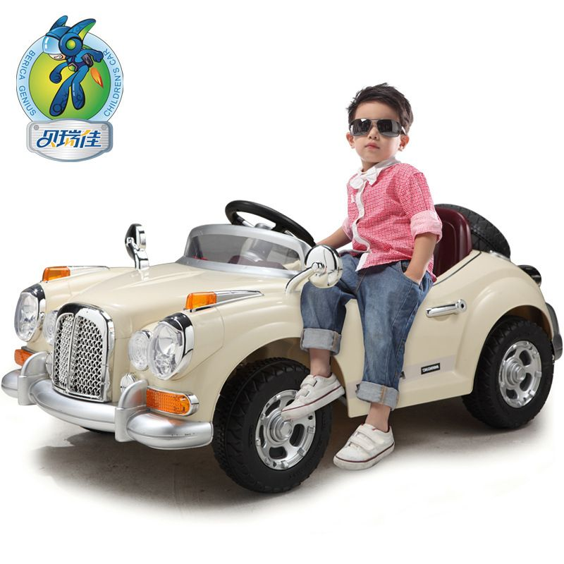 berry best childrens electric car stroller four dual drive can take remote control toy cars wholesale