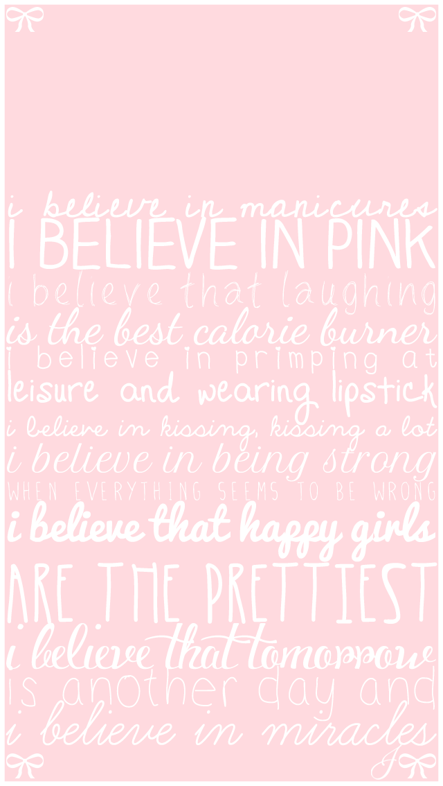 Pink Girly Quotes iPhone Wallpaper Lock Screen PanPins