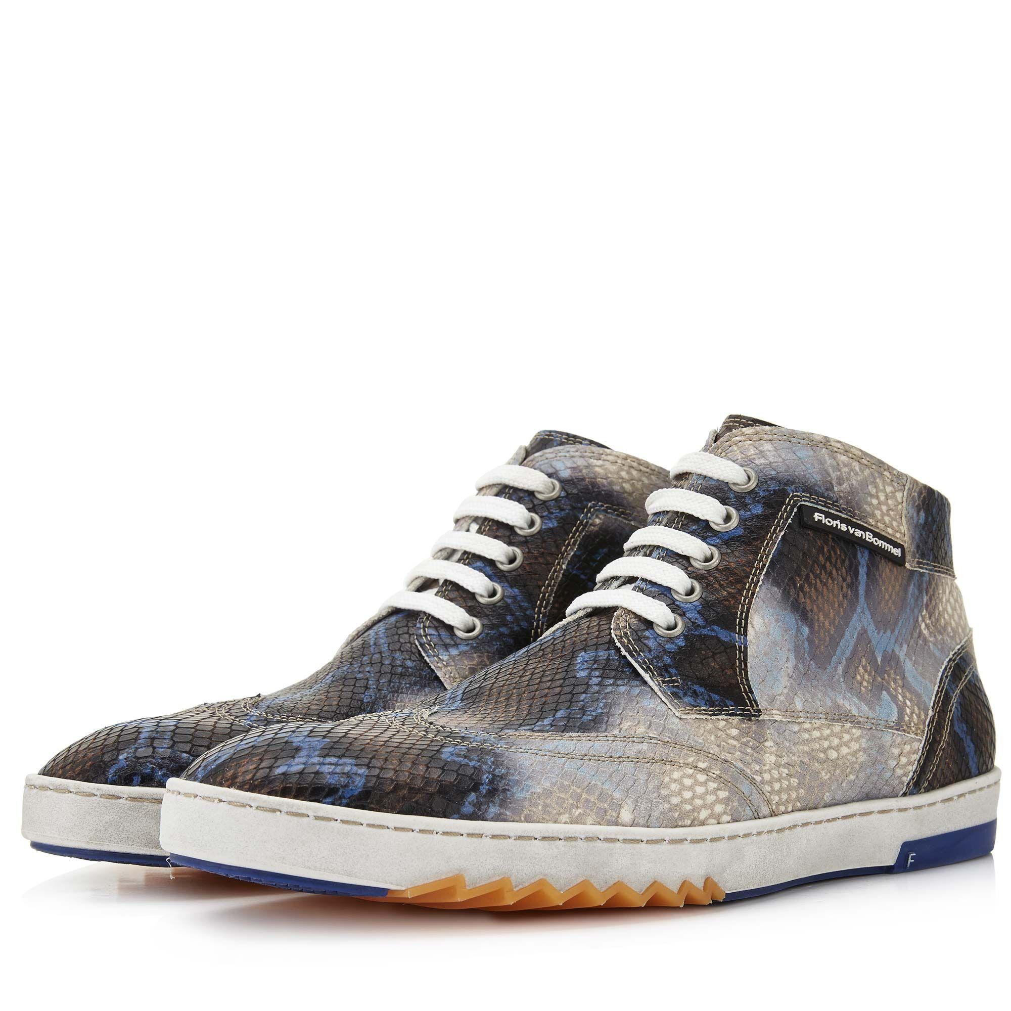Floris Van Bommel Sneaker Sombre Imprimé Serpent. DO2KoCvC4f