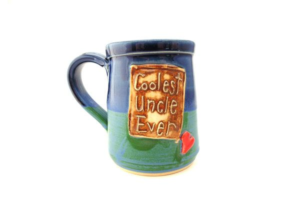 Coolest Uncle Ever Pottery Mug Ceramic Handmade by jewelpottery, $27.00