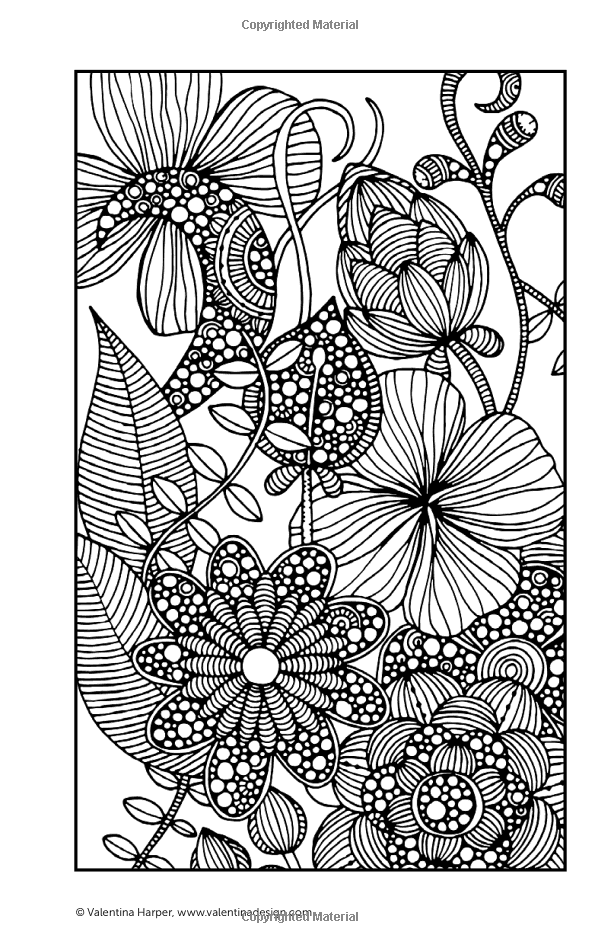 Color Calm Coloring Book Perfectly Portable Pages Valentina Harper 9781497200333 Books Mandala Coloring Pages Animal Coloring Pages Pattern Coloring Pages