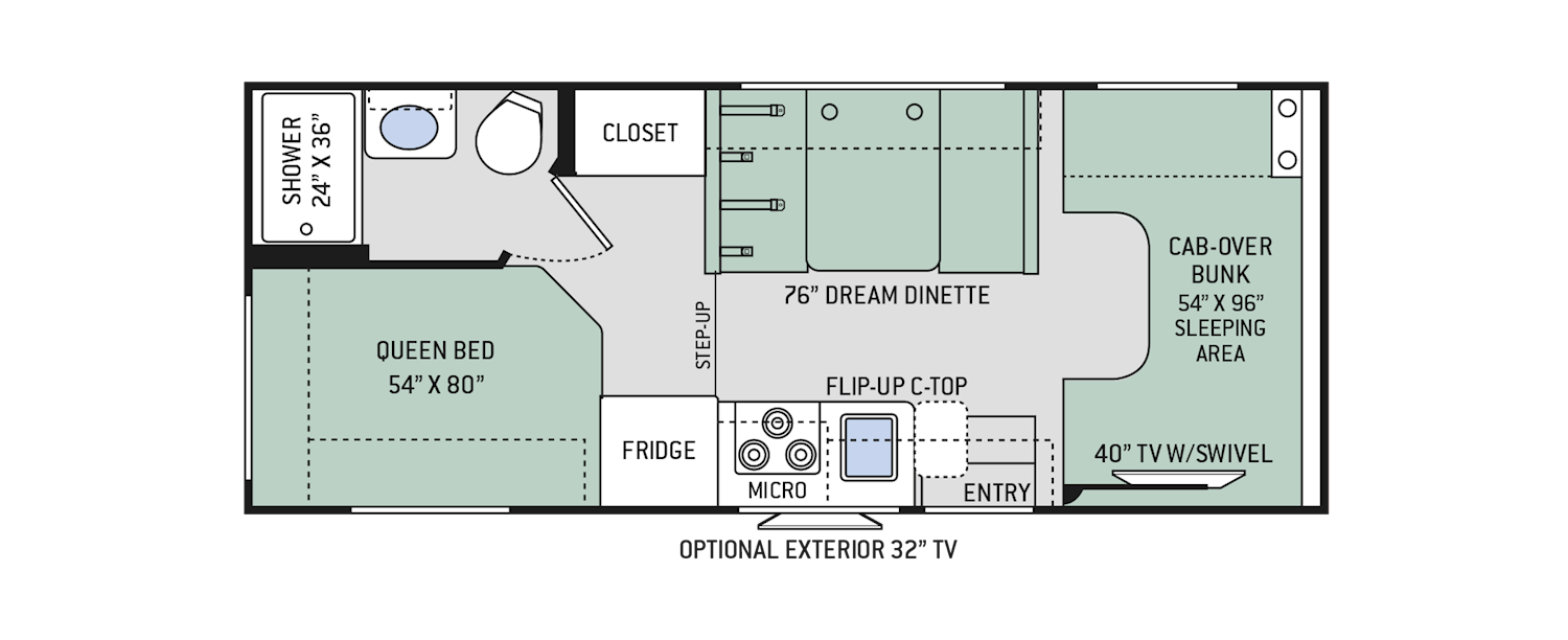 Four Winds Class C Motorhomes Floor Plans Thor Motor Coach Rv Floor Plans Floor Plans Motorhome