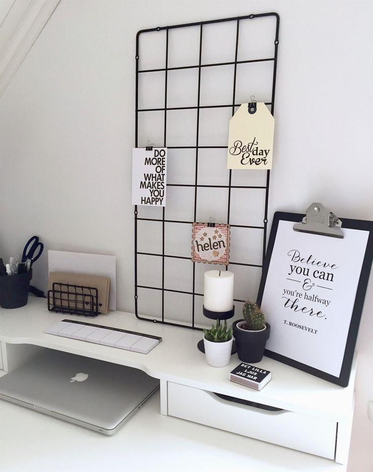 Minimalistischer Schwarzweiss Arbeitsplatz Ikea Alex Schreibtisch
